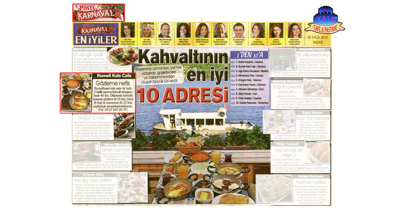 Kale Cafe Posta Karnaval