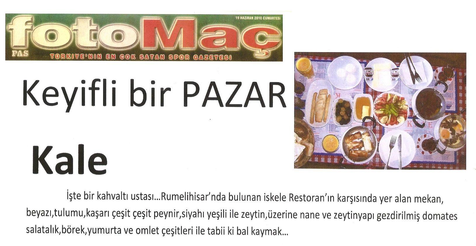 Kale Cafe Fotomaç Gazetesi